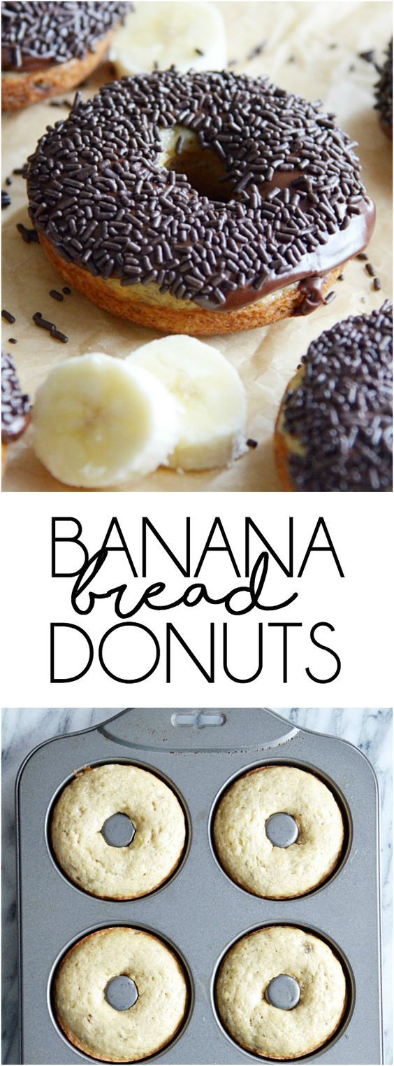 Banana Bread Donuts #healthymarshmallows