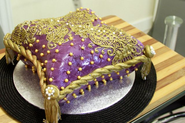 Mehndi Cushion Cake : Hand crafted pillow cake crazy about cakes