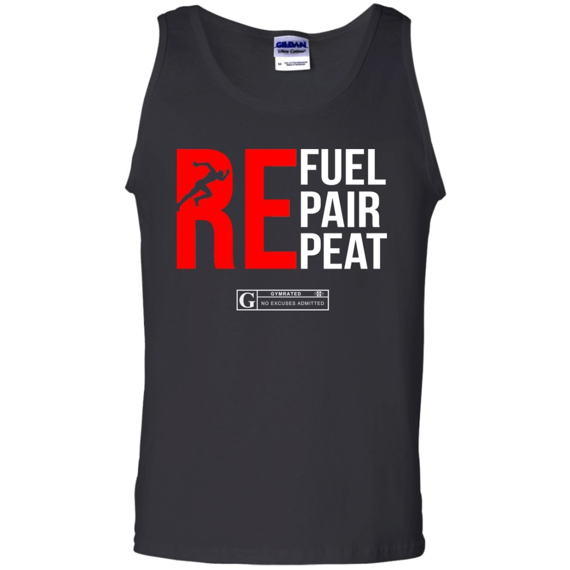"""Refuel Repair Repeat Running"" Men's Tees & Tanks"
