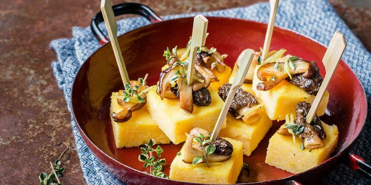Polenta aux champignons et Raclette RichesMonts
