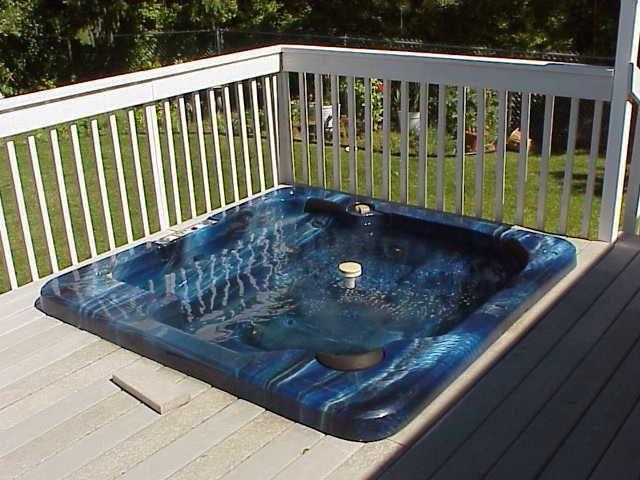 Hot Tub Sunk Into Deck Hot Tub Hot Tub Deck Hot Tub Landscaping