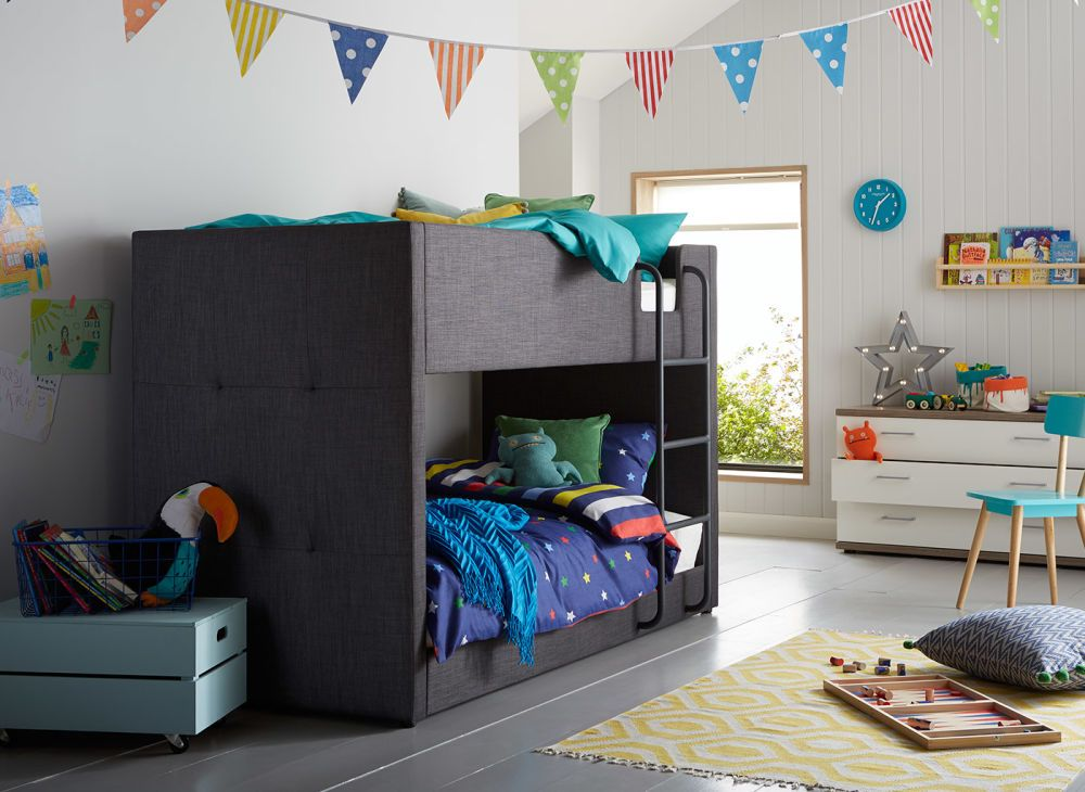 The Willow Bunk Bed Is Beautifully Tactile Because Of Its Fabric