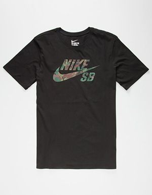 e92905c1e114 NIKE SB Icon Camo Mens T-Shirt Black