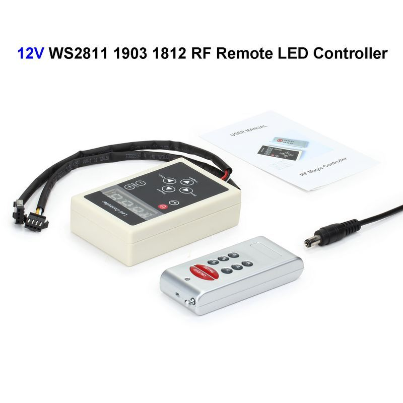 12V IC WS2811 1903 1812 LED Controller RF Wireless Remote