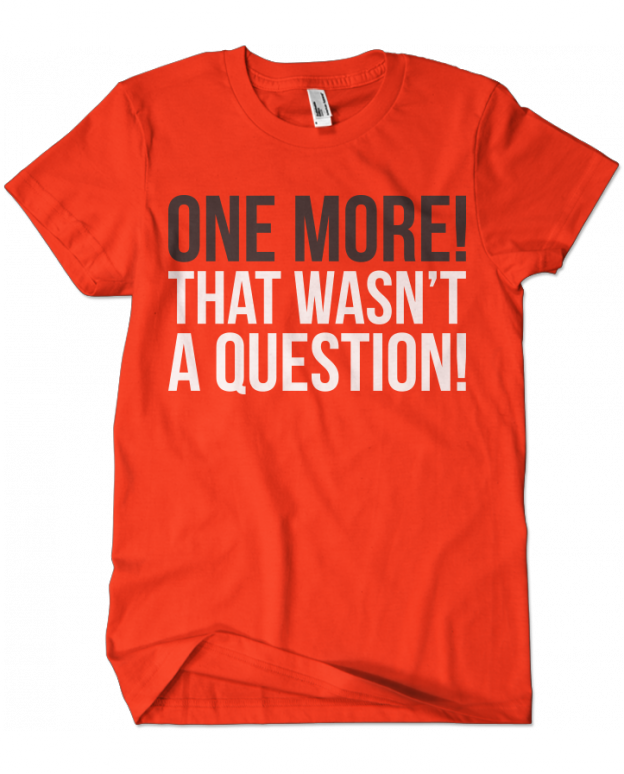 dad2272208 Workout Fun · Personal Trainer Humor · Gym Training · Evoke Apparel - One  More That Wasn't a Question Graphic Tee, $25.00 (