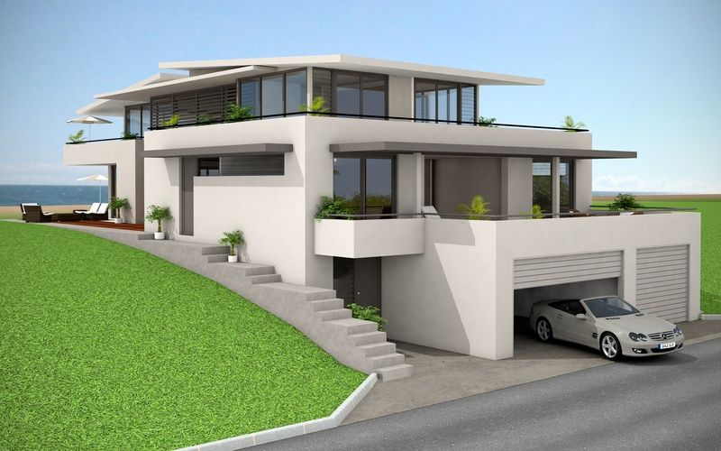 3d architectural visualization and artist impression for Beach house designs adelaide