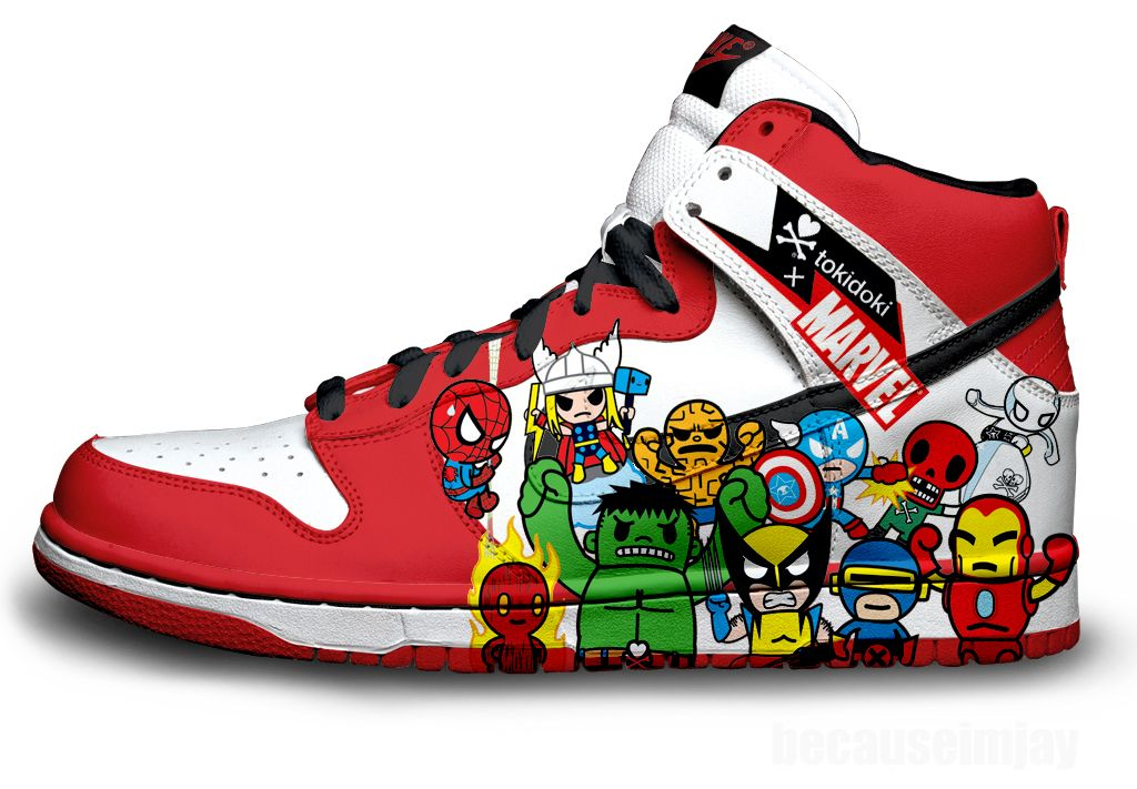 eeb3b32860 Marvel Nike Dunks by becauseimjay.deviantart.com on @deviantART ...