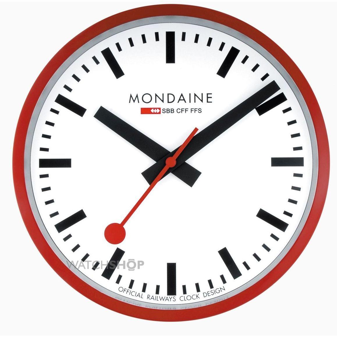 Mondaine Swiss Railways Wall Clock A990 Clock 11sbc Mondaine Clock Mondaine Wall Clock Red Wall Clock