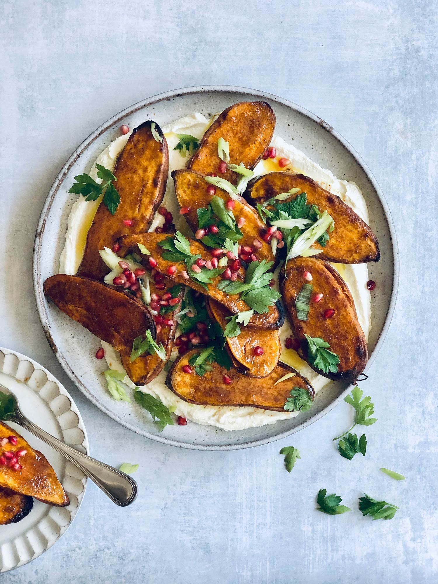 Maple Roasted Sweet Potatoes with Ras el Hanout an
