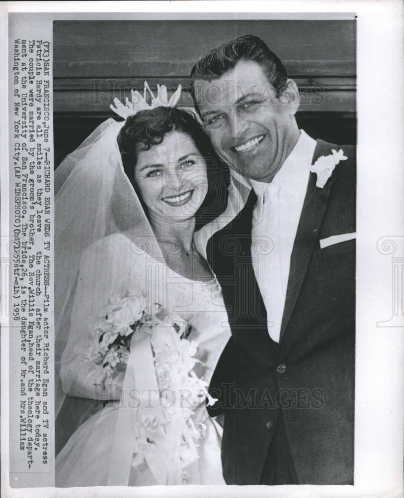 1958 actor richard eagan married actress patricia hardy