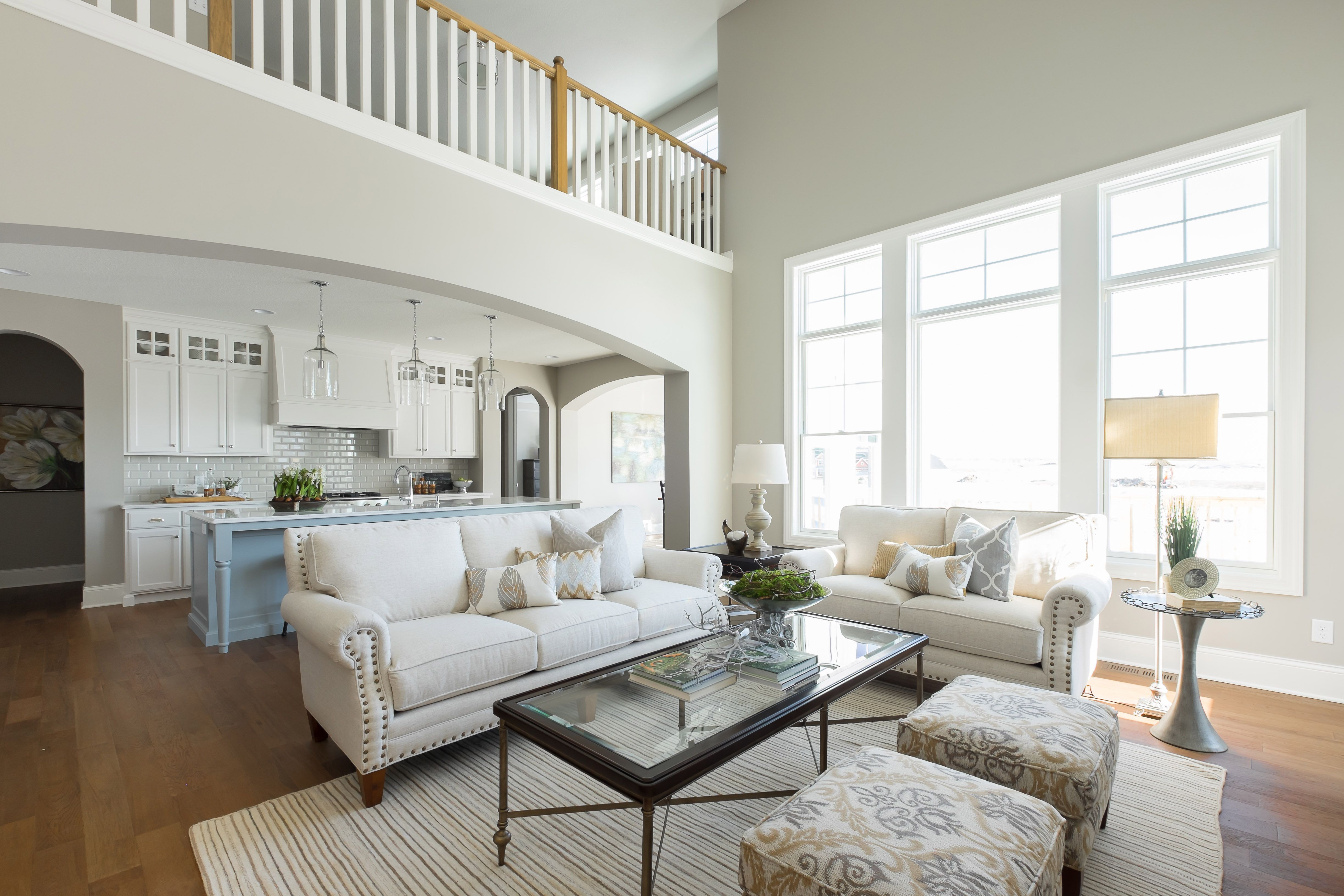 Open floor plan with 2-story vaulted Great Room opening up to ...