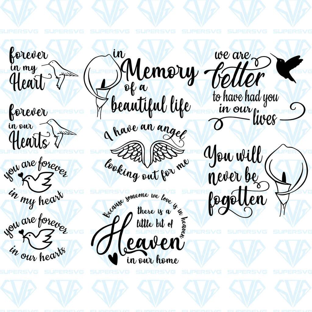 In Loving Memory Grief Bundle Svg Files For Silhouette Files For Cricut Svg Dxf Eps Png Instant Download Supersvg In Loving Memory Tattoos In Loving Memory Quotes In Loving Memory