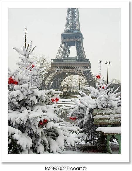 Freeart Fa2895002 Christmas In Paris Paris Eiffel Tower