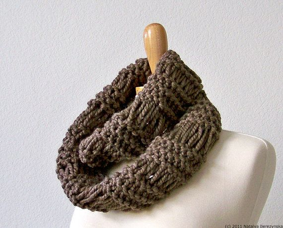 Knitting Pattern Knit Infinity Scarf Pattern Knit Cowl Scarf
