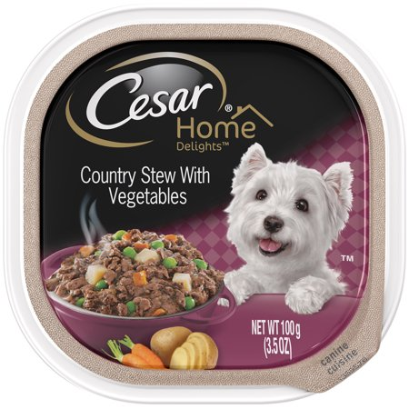 11 Pack Cesar Home Delights Country Stew With Vegetables Wet Dog