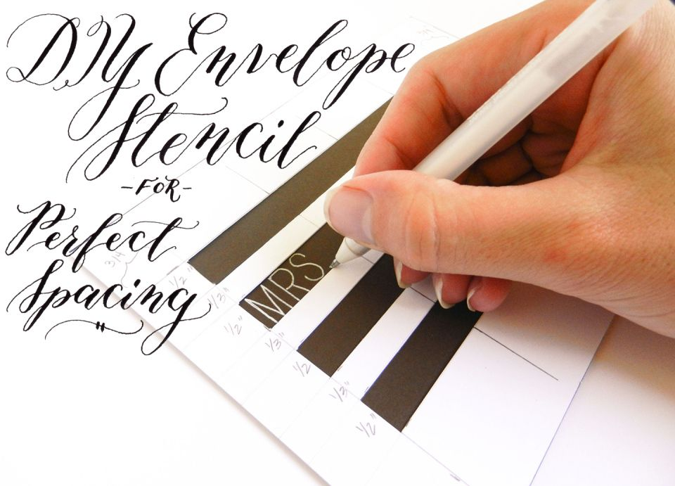 DIY Envelope Stencil For Perfect Spacing Hand Lettering EnvelopesAddressing EnvelopesDiy Wedding