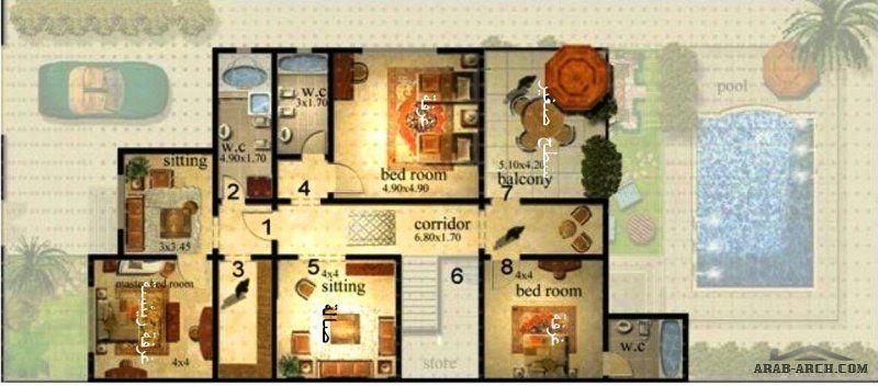 مخطط مودرن فيلا سعودي دورين مساحة الارض 15x30 م Gallery Wall Wall Home