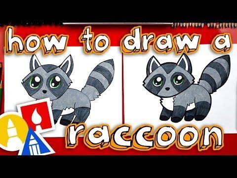 How To Draw A Cartoon Raccoon Art For Kids Hub Cute Drawings For Kids Art For Kids Hub Cute Cartoon Drawings