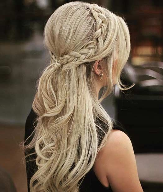 Popular Wedding Hairstyles With Crown: 31 Half Up, Half Down Hairstyles For Bridesmaids