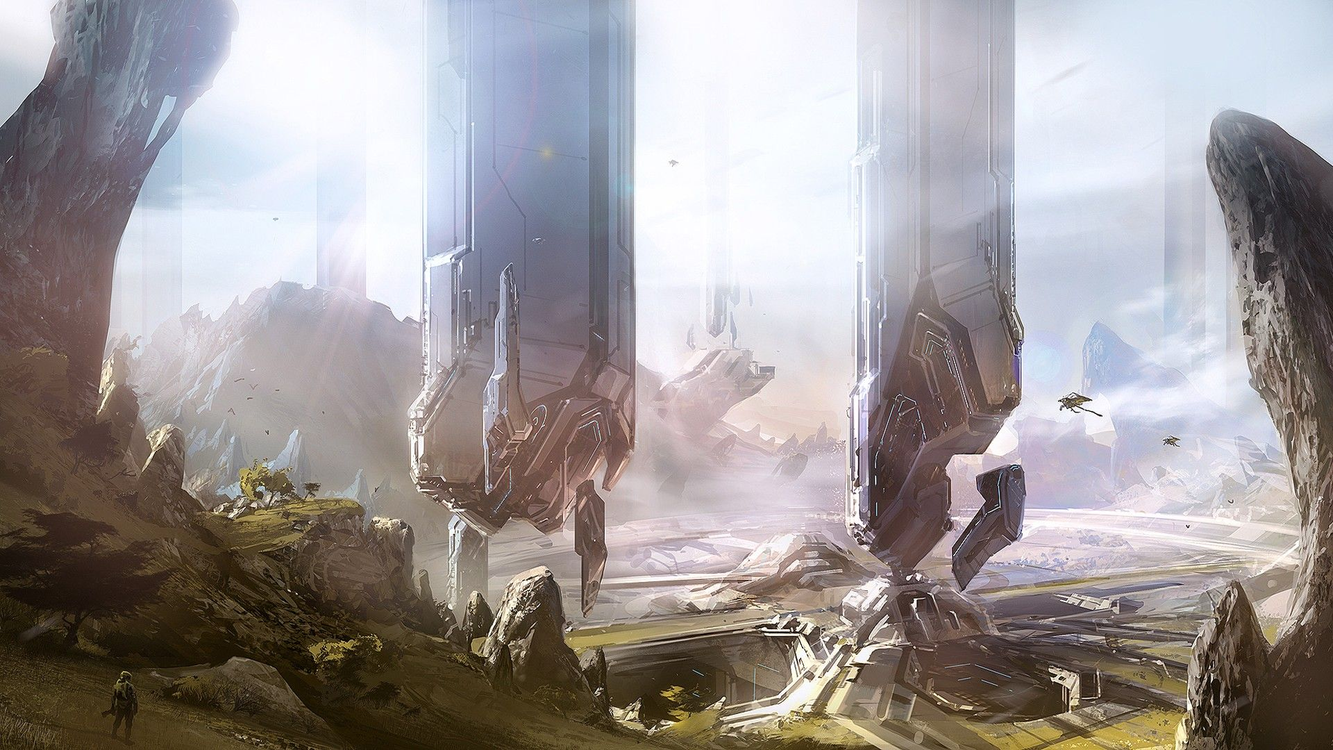 Halo Halo 4 Concept Art Video Games Wallpaper Concept Art Star Wars Concept Art Futuristic Art