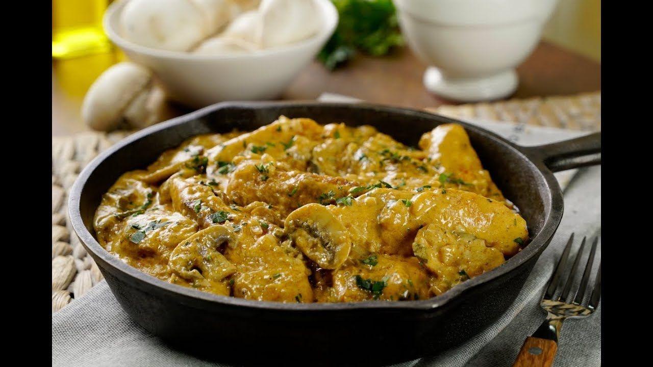 Pollo Stroganoff| Cómo cocinar POLLO con recetas FRANCESAS | CARNES ...