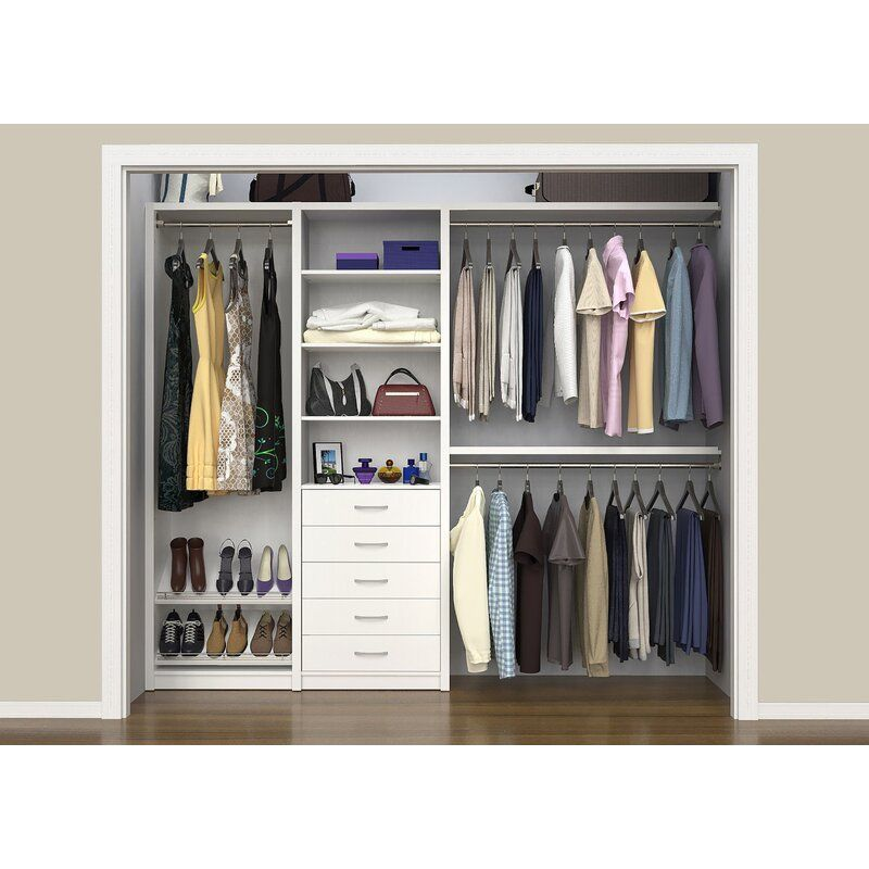 "SpaceCreations 64"" W - 99"" W Closet System"