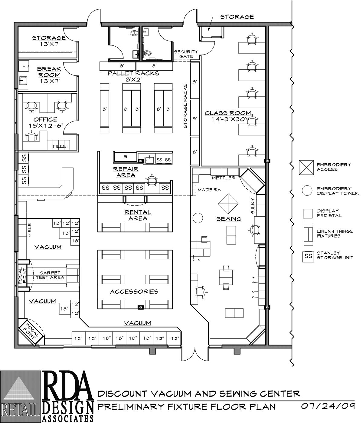 Retail Store Floor Plan With Dimensions
