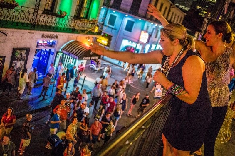 Bourbon Street Balcony Party New Years Eve In New Orleans