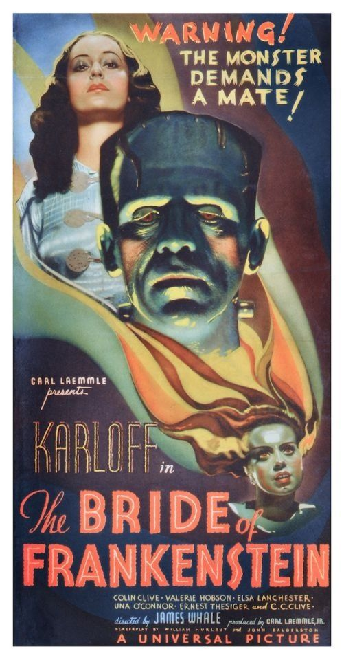 Bride of Frankenstein Poster Classic American Horror Film