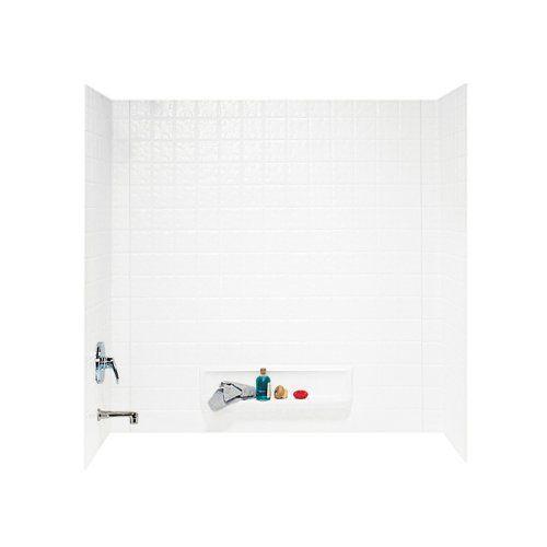$483.98 Swanstone TI-3-010 Veritek Three Panel Tub Wall Kit, White ...