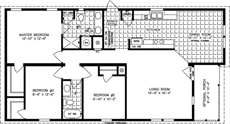 Jacobsen TNR 6521B 28' x 52' 1289 sq. ft. 1200 sq ft
