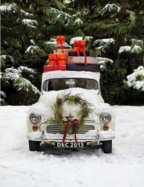 Driving Home For Christmas.Driving Home For Christmas Holidays Merry Christmas My