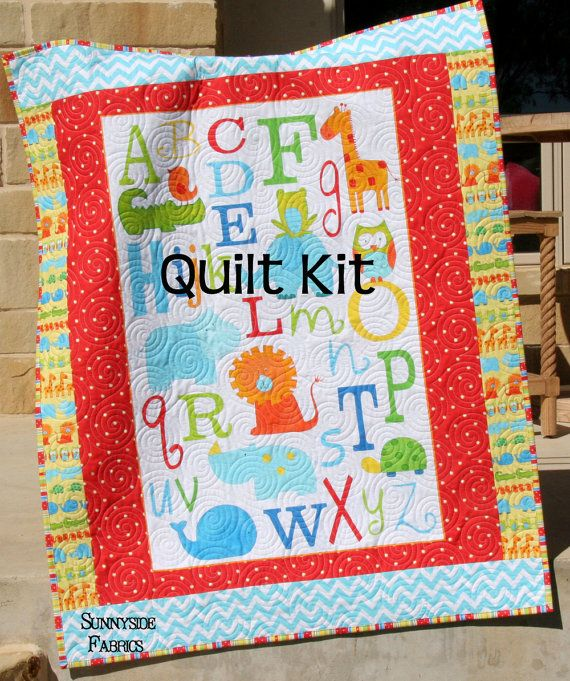 LAST THREE ABC Safari Quilt Kit Panel Baby Toddler Bedding Studio ... : quilt panel kits - Adamdwight.com