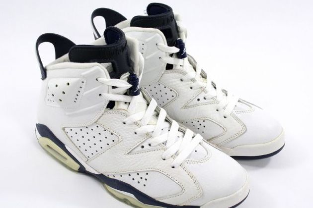 outlet store b45c0 2c614 Air Jordan 6 VI Retro White Midnight Navy Shoes  95