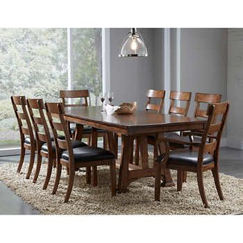 Appalachian 9 Piece Dining Set Dining Table 7 Piece Dining Set Dining