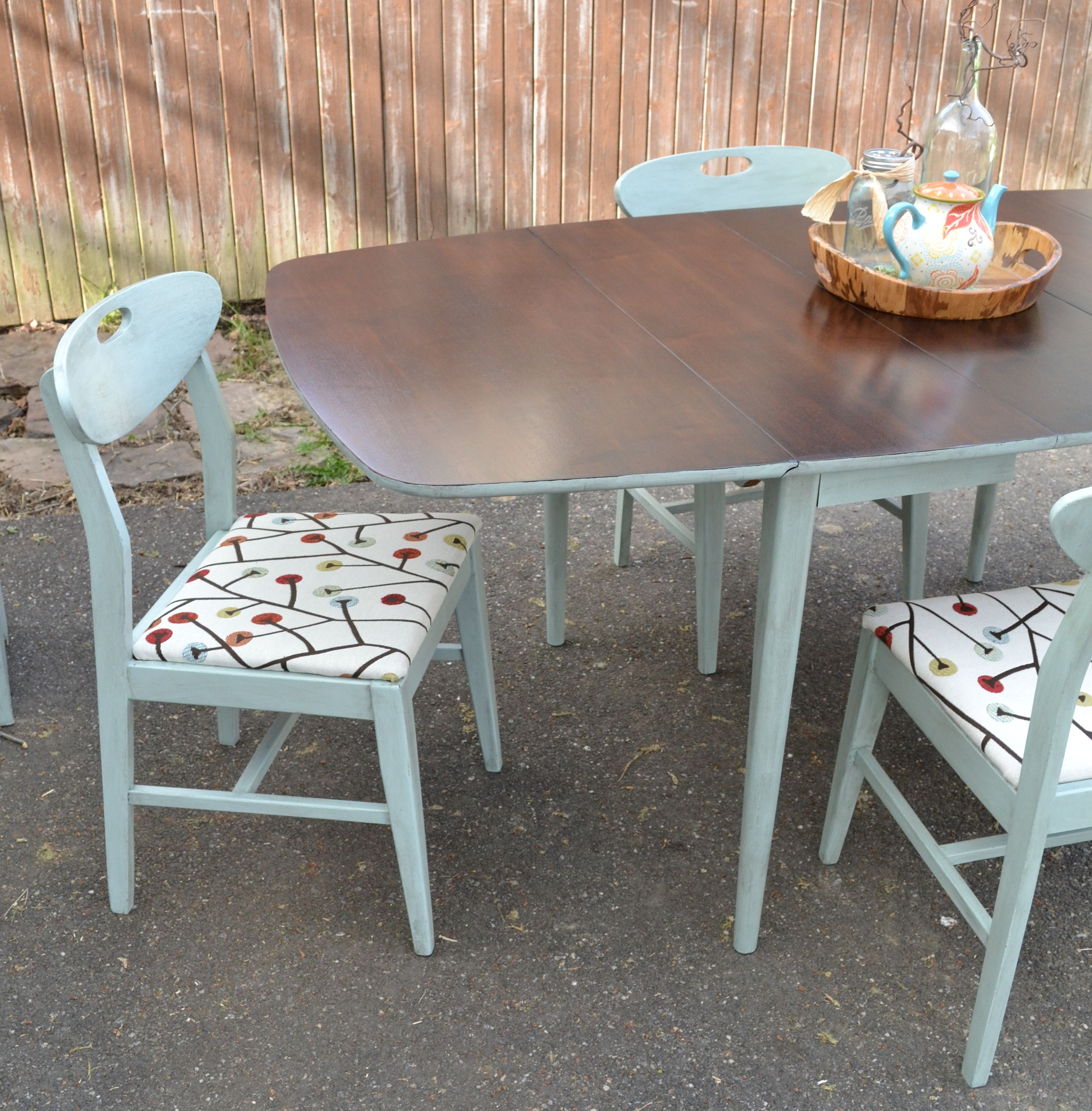 Mid Century Modern Dining Set Top Was Stripped And Refinished