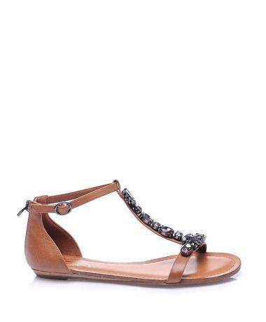 Jessica Simpson Taba Deri Duz Sandalet Tabasandalet Taslisandalet Duzsandalet Terlik Sandalet Slipper Sandals Trend Sandalet Bayan Ayakkabi Ayakkabilar