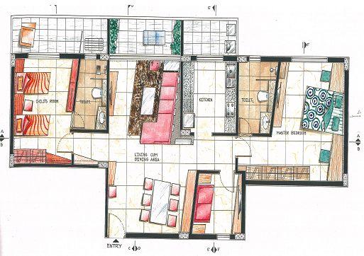 Creative Interior Designers Drawings Interior Design Drawing Big