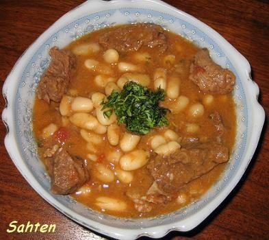 Yakhn fassoulia ragout de haricots blancs cuisine for Cuisine libanaise