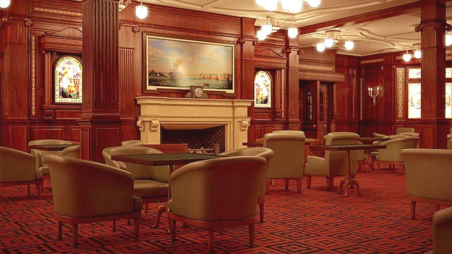 Titanic Interior Design titanicreproductionsmoking