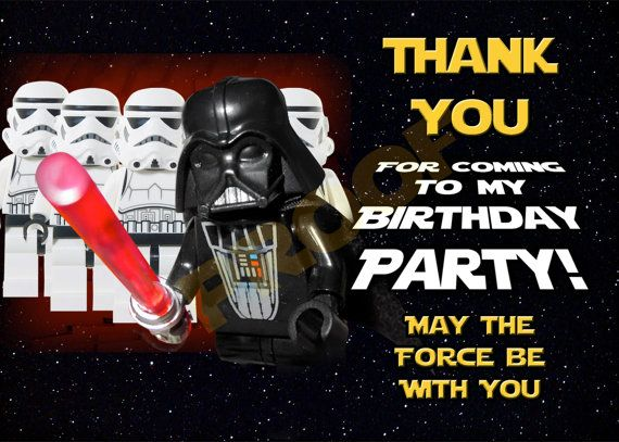 Thoughtful Birthday Card Great For Your Little Jedi Star Wars Birthday Diy Thank You Card File Lego Star Wars Birthday Star Wars Birthday Card Files