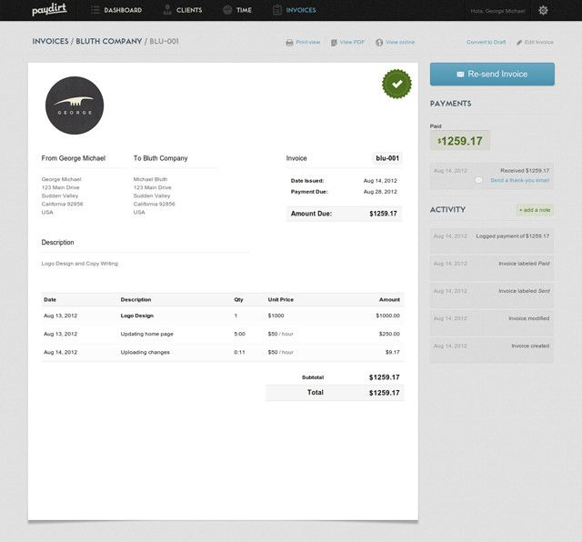 For Freelancers A Web Service That Makes Invoicing Easy