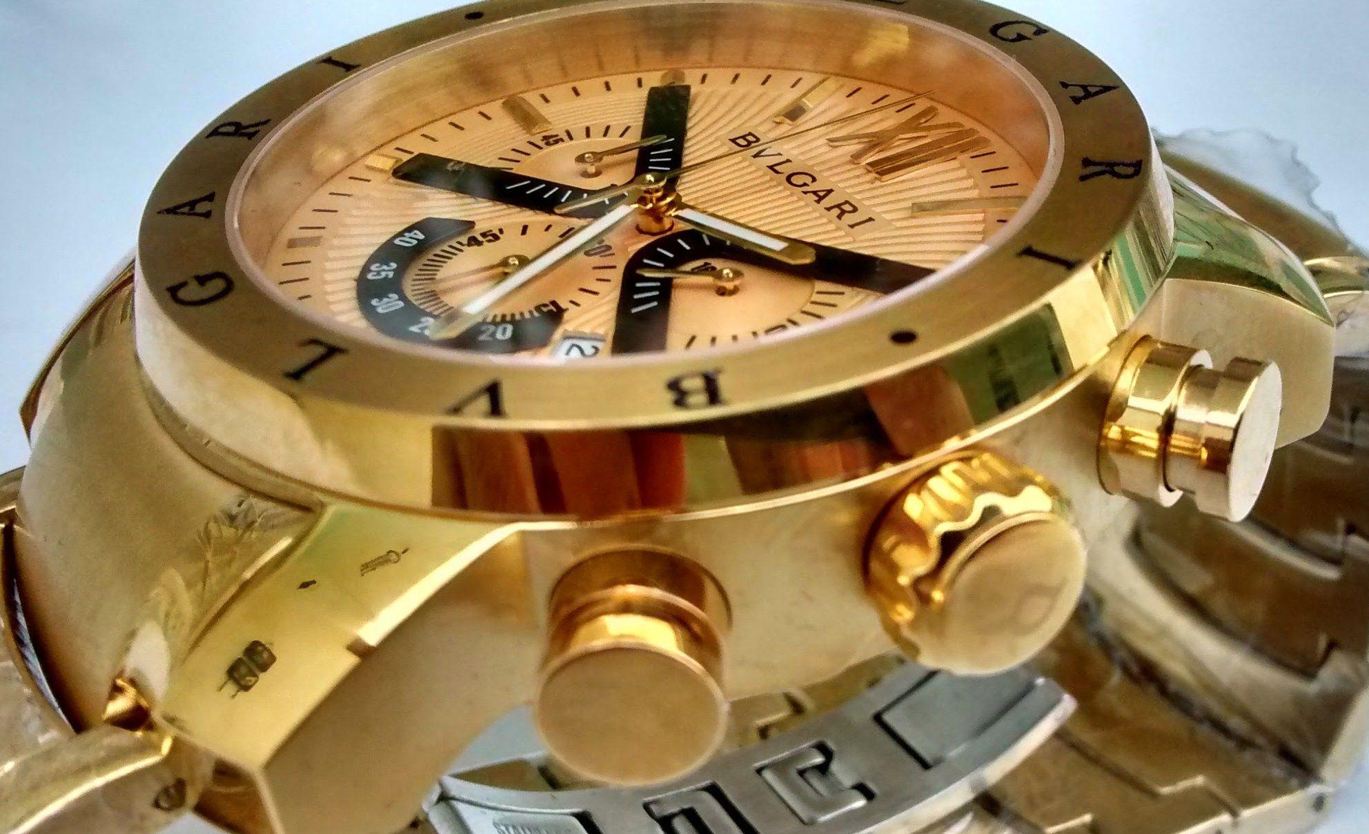 343fef9f04d Lindo Relógio Bvlgari Dourado Modelo Iron Man ( Homen de Ferro ) Acesse  www.w3shopimport.com e compre o seu.  bvlgari  bvlgari ironman  relogios ...