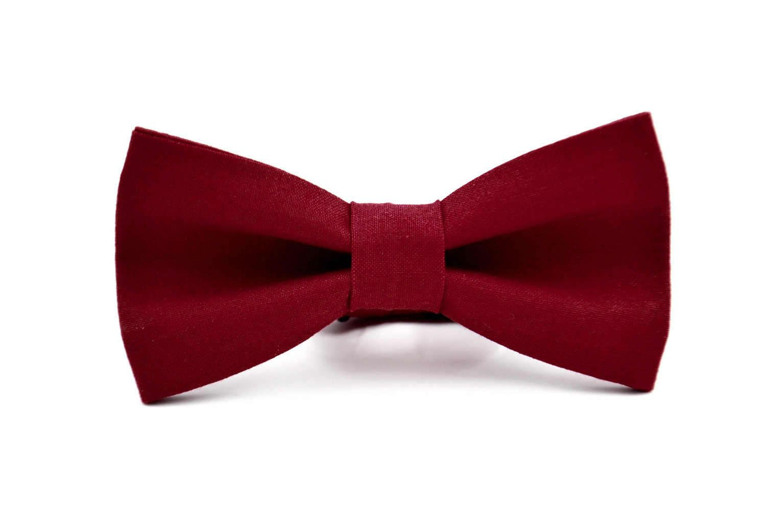 Red /& Dark Red Check Bow Tie