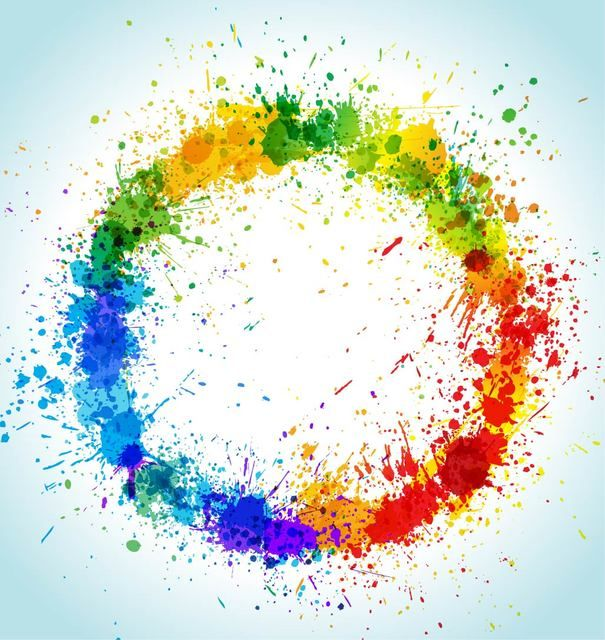 Free Vectors Colorful Grungy Circular Paint Splashes Abstract