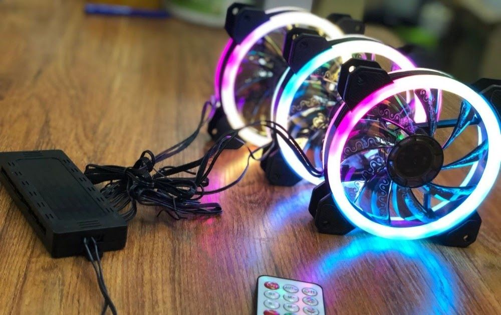 Big Sale Aigo Dr12 Double Rgb Aura Pc Fan 12v 4 Pin 120mm Cooling