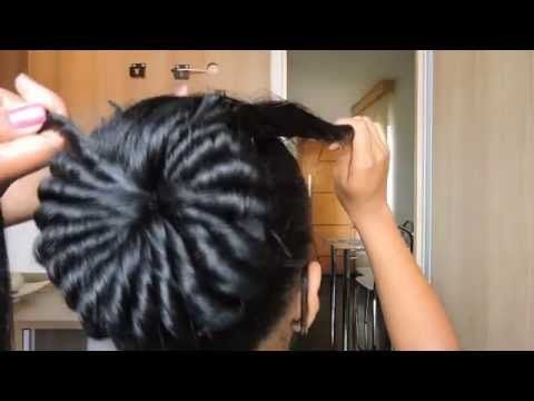 Penteado: Coque rosquinha elaborado. - YouTube