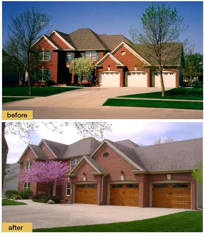 Traditional Home Brick Exteriors: Say Good-bye To Beige. New Clopay Gallery Collection Ultra
