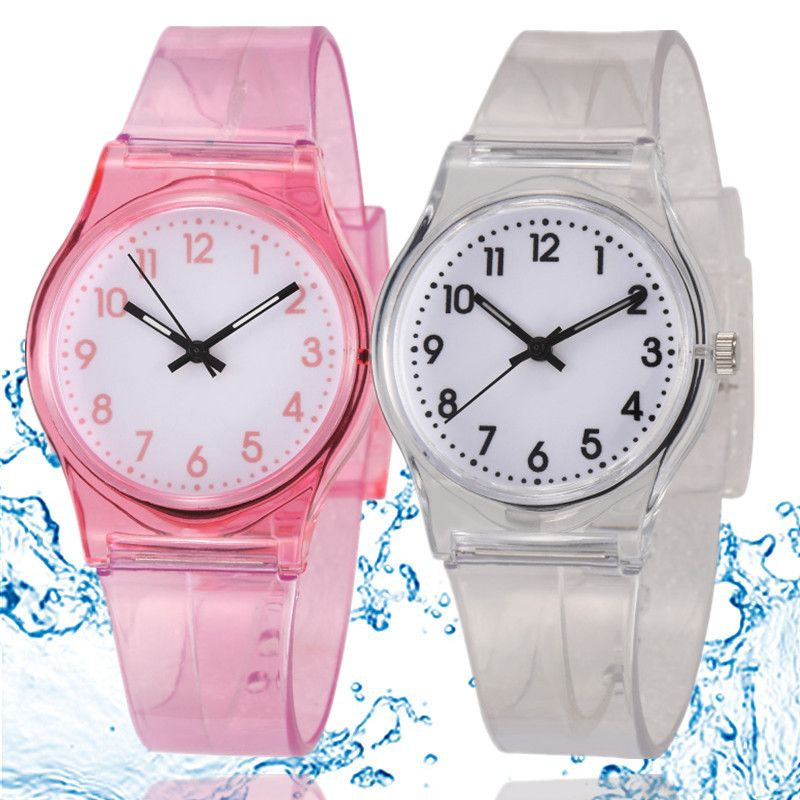 50M Waterproof Fashion Casual Transparent Watch Jelly Small Fresh ...