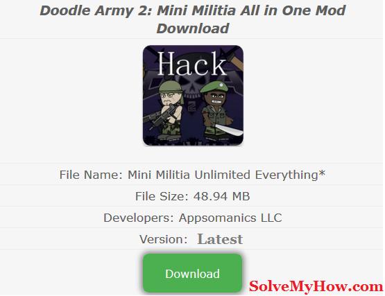 Mini Militia Hack Download Hacks Android Phone Hacks Play Hacks